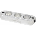 "1.75""/2"" TUBE FRAME MOUNT 3 LIGHT LED BILLET WHITE"