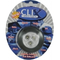 BLACK BATTERY POWERED 3 LED CLIX POD