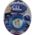 BLUE BATTERY POWERED 3 LED CLIX POD