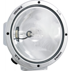 "8.7"" ROUND CHROME 35 WATT HID SPOT BEAM LAMP"