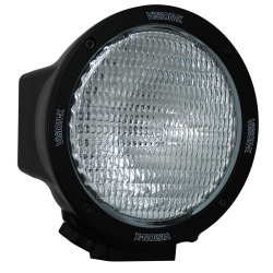 "6.7"" ROUND BLACK 100 WATT TUNGSTEN FLOOD BEAM LAMP"