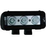 "5"" XMITTER LOW PROFILE PRIME BLACK THREE 3-WATT LED'S 10 DEGREE NARROW BEAM"