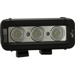 "5"" XMITTER LOW PROFILE PRIME XTREME BLACK THREE 6-WATT LED'S 40 DEGREE WIDE BEAM"
