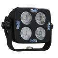 """4"""" SQUARE SOLSTICE BLACK FOUR 10-WATT LED 15° MEDIUM BEAM LAMP"""