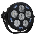 "6"" ROUND SOLSTICE BLACK SIX 10-WATT LED 15° MEDIUM BEAM LAMP"