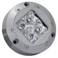 SUBAQUA UNDERWATER LED LIGHT FOUR WHITE 3-WATT LED'S WIDE BEAM