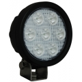 "4"" ROUND UTILITY MARKET XTREME BLACK WORK LIGHT SEVEN 6-WATT LED'S 10 DEGREE NARROW BEAM"