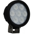 "4"" ROUND UTILITY MARKET XTREME BLACK WORK LIGHT SEVEN 6-WATT LED'S 40 DEGREE WIDE BEAM"