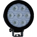 "4"" ROUND UTILITY MARKET XTREME BLACK WORK LIGHT SEVEN 6-WATT LED'S 60 DEGREE EXTRA WIDE BEAM"