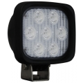 "4"" SQUARE UTILITY MARKET XTREME BLACK WORK LIGHT SEVEN 6-WATT LED'S 10 DEGREE NARROW BEAM"