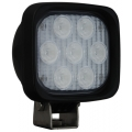 "4"" SQUARE UTILITY MARKET XTREME BLACK WORK LIGHT SEVEN 6-WATT LED'S 40 DEGREE WIDE BEAM"
