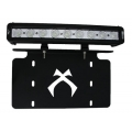 "License Plate Bracket With Attached 12"" Xmitter Low Profile Bar"
